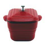 Cast Iron Square Red Mini Casserole Pan by Berghoff Intenational