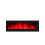 Caesar Hardware Luxury Linear Electric Fireplace, 102-Inch