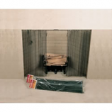"""48"""" X 18"""" Woodfield Hanging Fireplace Spark Screen, Rod Not Included"""