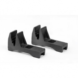 """Woodfield Small Boots For Fireback - Set Of 2, 2.5""""W X 4.25""""H X 8""""L"""