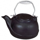 Woodfield Flat Black Cast-Iron Kettle, 2.5 Qt