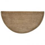 "Woodfield Beige W/Border Contemporary Half-Round Rug, Wool, 22"" X 44"""