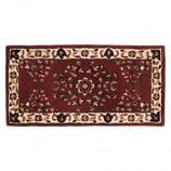 "Woodfield Brick Red Oriental Rectangular Rug, Wool, 22"" X 44"""