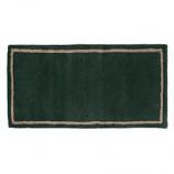 "Woodfield Green W/Border Contemporary Rectangular Rug, Wool, 22"" X 44"""
