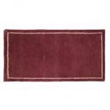 "Mulberry W/Border Contemporary Rectangular Rug, Wool, 22"" X 44"""