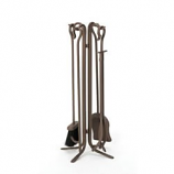 Woodfield Bronze 4-Piece Tool Set With Crook Handles