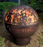 "Good Directions 26"" Fire Bowl with Full Moon Party FireDome"