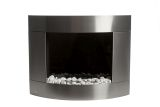 Diamond II Wall mounted Bio-ethanol fireplace-Stainless Steel