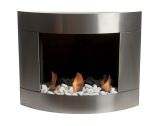 Diamond I Wall mounted Bio-ethanol fireplace-Stainless Steel