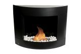 Diamond II Wall mounted Bio-ethanol fireplace-Black