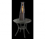 Contemporary Square Design Tabletop Patio Heater - Golden Hammered