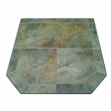 "Desert Storm II Tile Stove Board, Single Cut Corner, 48"" x 48"""