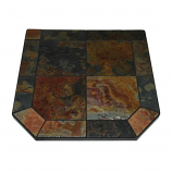 "Asian Slate Stove Board, Single Cut Corner, 48"" x 48"""