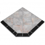"Night Shadows Tile Stove Board, Single Cut Corner, 48"" x 48"""