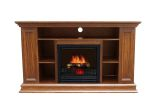 Boston Electric Fireplace-Old Oak Color