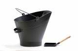 Ash Holder Bucket with Shovel in Black Iron By Boone Hearth