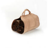 "Rugged Cowhide Leather Log Carrier, 17"" X 37"""
