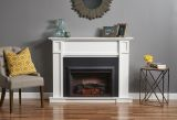 Hertitage White Fireplace Cabinet