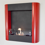 Focolare Muro Rosso Wall Mounted Ethanol Red Fireplace