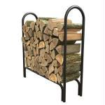 4' Deluxe Log Rack Black