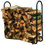 4' Outdoor Log Rack Black