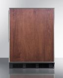 Summit NSF Compliant Built-in ADA Under-Counter Refrigerator - Wood