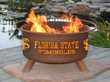 """Florida State Seminoles Fire Pit by Patina Products - 24"""" Diameter & Cold Rolled Steel"""