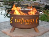 """Cincinnati Bearcats Fire Pit by Patina Products - 24"""" Cold Rolled Steel & Rust Finish"""
