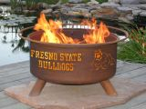 """Fresno State Bulldogs Fire Pit by Patina Products - 24"""" Cold Rolled Steel & Rust Finish"""