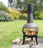 Tuscan Glo Cast Iron Antique Bronze Chiminea