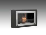 Free Standing Or Built-In Montreal 2-Sided Fireplace -Matte Black