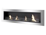 Accalia Wall Mounted / Recessed Ventless Ethanol Fireplace with Glass Barrier