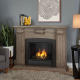 Adelaide Indoor Ventless Gel Fireplace, Dry Bush White