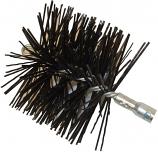 "10"" Round, Polypropylene, Torque Lock Connector - Master Sweep Chimney Brush"