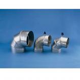 "HeatFab 8"" 15 Degree Corrugated Elbow Non-Adjustable"
