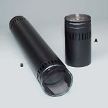"""Security 6"""" Double-Wall Black Stove Pipe Adjustable Length 3"""" - 9"""""""