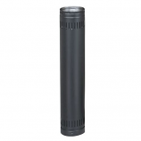 """Security 6"""" Double-Wall Black Stove Pipe 12"""" Length"""