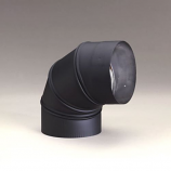 """Heat-Fab 6"""" Black 90 Degree Sectioned Elbow Adjustable"""