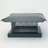 "HomeSaver Pro 17"" x 17"" Galvanized Single-Flue Chimney Cap 3/4"" Mesh"
