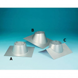 "Secure Temp 6"" Roof Flashing 1/12 - 7/12 Pitch with Storm Collar"