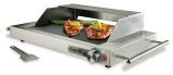 Ribbed Glass Electric Grill with Windscreen / Splatter Shield & Warmer Rack