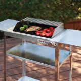 Stainless steel Rollabout cart with side shelves