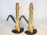 Lighthouse Andiron - Brass