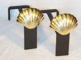 Shell Andiron - Brass