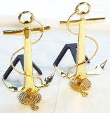 Small Anchor Andiron - Brass