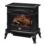Traditional Gloss Black Electric Stove - 25 inch