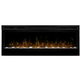 Prism Series Black Linear Wall-mount Electric Fireplace - 50 inch