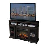 Bennett Media Console Espresso Transitional Fireplaces - Log Set