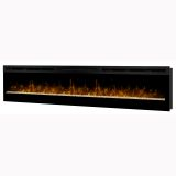 Galveston LED Flame Wall-mount Electric Fireplace - Black