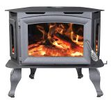 Large Bay Front Wood Stove by Breckwell